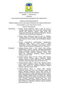 - 1 - QANUN KABUPATEN ACEH BESAR NOMOR 4 TAHUN 2012 TENTANG PAJAK BUMI DAN BANGUNAN PERDESAAN DAN PERKOTAAN