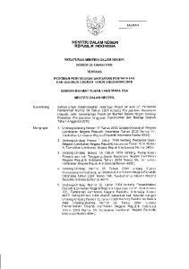 ),\ *a*;iy. i-:-j6r1lv MENTERI DALAM NEGERI REPUBLIK INDONESIA PERATURAN MENTERI DALAM NEGERI NOMOR 25 TAHUN 2OO9 TENTANG