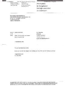 & Droogleever. A.J. Boorsma. advocaat. t (070) f (070)