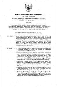 : I. Undang-Undang Nomor 15 Tahun 1985 tentang Ketenagalistrikan (Lembaran Negara RI Tahun 1985 Nomor 74, Tambahan Lembaran Negara RI Nomor 3317);