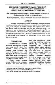 ' Mahasiswa program S3 pada Ilmu Keteknikan Pertanian IPB Bogor Staf Pengajar Fak. Teknologi Pertaniw IPB Bogor