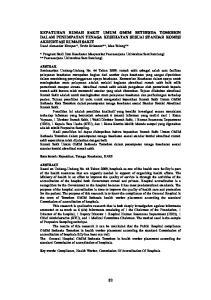 * Program Studi Ilmu Kesehatan Masyarakat Pascasarjana Universitas Sam Ratulangi **Pascasarjana Universitas Sam Ratulangi