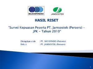 : PT. JAMSOSTEK (Persero)