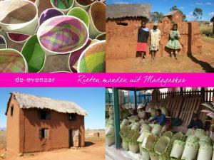 - Rieten manden uit Madagaskar - Madagaskar wordt ook wel het rode eiland genoemd, een verwijzing naar de roodbruine aarde