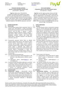 , se základním kapitálem PLN, splaceným v plné výši