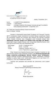 : Undangan Sarasehan Membangun Indonesia sebagai Poros Maritim Dunia yang Maju dan Mandiri 12 September 2014