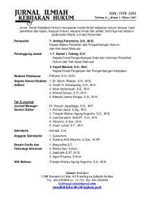 : Y. Ambeg Paramarta, S.H., M.Si. Kepala Badan Penelitian dan Pengembangan Hukum dan Hak Asasi Manusia