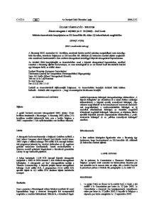 06) (EGT vonatkozású szöveg) Következtetés PROCÉDURE