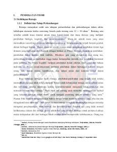 1 Hurlock, Psikolgi Perkembangan Suatu Pendekatan Sepanjang Rentang Kehidupan, Terjemahan, (Jakarta, Penerbit