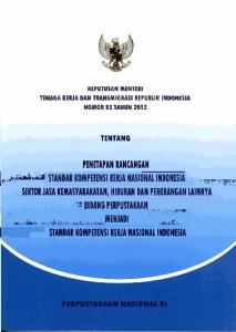 1,- ITANDAR KOMPETENII KERJA NASlONAl INDONESIA