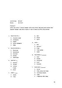 1. KOMPLEMEN = A Makanan sehat B. Pelengkap C. Bagian D. Bahan pengganti E Btasa. C. Ikan D. Racun E. Semu