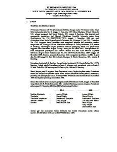 1. UMUM. Pendirian dan Informasi Umum
