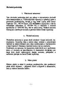 1. Všeobecná ustanovení