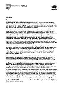11 Raadsbesluit Maatregelenverordening Participatiewet, Ioaw en Ioaz 2015 gemeente Heerde