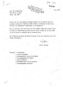 13 ( Aan: zie verzendlijst Van: RrH.E. de Haan Datum: mei 1987