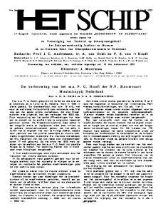 14-daagsch Tijdschrift, waarin opgenomen het Maandblad SCHEEPSBOUW EN SCH EEPV A A RT tevens orgaan van