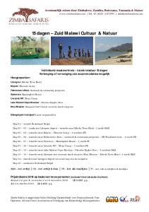 15 dagen Zuid Malawi Cultuur & Natuur