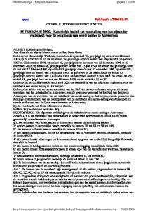 15 FEBRUARI Koninklijk besluit tot vaststelling van het bijzonder reglement voor de rechtbank van eerste aanleg te Antwerpen