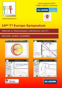16 de T 3 Europe Symposium