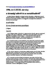 1996. évi LXXXI. törvény a társasági adóról és az osztalékadóról 1
