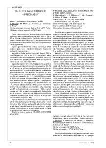 1a. KlinicKá nefrologie PřednášKy