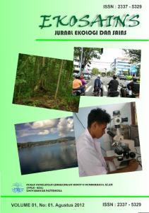 :!,1G():5kr'W:5. JURnAl EKOlOGI DAn SAlns ISSN : ISSN : VOLUME 01, No: 01. Agustus 2012