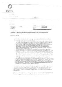 1ó'ö6 Brussel. Brussel Onderwerp: Operationele gevolgen van de niet realisatie van een aantal markten in 2013