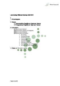 2. Bestuur 2.1 Samenstelling Dagelijks en Algemeen Bestuur 2.2 Vergaderdata Dagelijks en Algemeen Bestuur