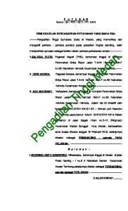 2. DEWI ANDIKA, Pegawai Swasta, bertempat tinggal di Komplek Perumahan