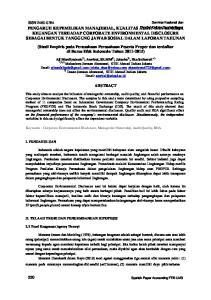 2) Dosen Jurusan Akuntansi, STIE Ahmad Dahlan Jakarta