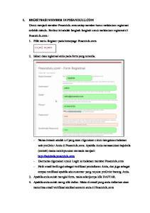 2. Isikan data registrasi anda pada form yang tersedia