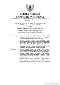 2 Lembaran Negara Nomor 5059); 4. Peraturan Pemerintah Nomor 16 Tahun 1977 tentang Usaha Peternakan (Lembaran Negara Tahun 1977 Nomor 21, Tambahan Lem