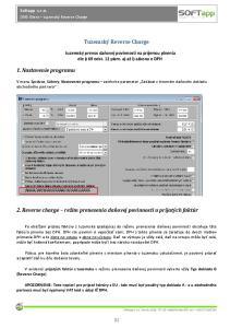 2. Reverse charge režim prenesenia daňovej povinnosti u prijatých faktúr