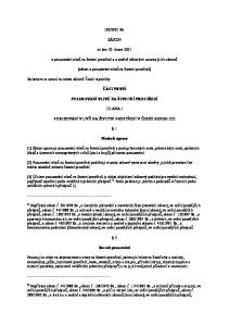 2001 Sb. ZÁKON. ze dne 20. února o posuzování vlivů na životní prostředí a o změně některých souvisejících zákonů