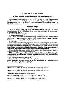 2001. (X. 25.) Korm. rendelet. az ivóvíz minőségi követelményeiről és az ellenőrzés rendjéről. A rendelet hatálya