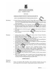 2004 TENTANG KEBIJAKAN RISET INSTITUT TEKNOLOGI BANDUNG
