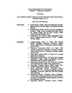 2004 TENTANG PELEPASAN JAGUNG HIBRIDA TB 8701 SEBAGAI VARIETAS UNGGUL DENGAN NAMA DK - 2
