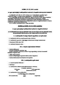 2005. (XI. 23.) EüM rendelet. az egyes egészségügyi szakképesítések szakmai és vizsgakövetelményeinek kiadásáról
