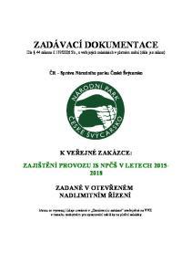2006 Sb., o veřejných zakázkách v platném znění (dále jen zákon)
