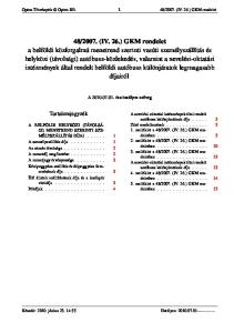 2007. (IV. 26.) GKM rendelet. A óta hatályos szöveg