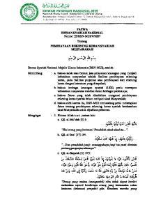 2007 Tentang PEMBIAYAAN REKENING KORAN SYARIAH MUSYARAKAH