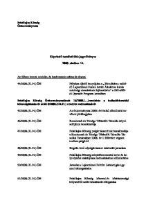 2008. október 14. Felsılajos Község polgármesterének beszámolója Tanácsában év I. félévben végzett tevékenységérıl