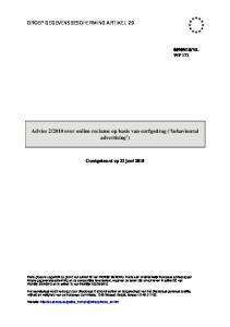 2010 over online reclame op basis van surfgedrag ( behavioural advertising )