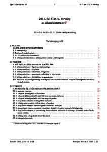 2011. évi CXCV. törvény az államháztartásról 1
