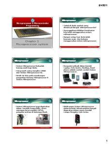 2011. Microprocessor & Microcontroller Programming