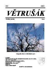 2011 ročník X. VĚTRUŠÁK. Větrušický zpravodaj. Fotografie: Strom z větrušického sadu