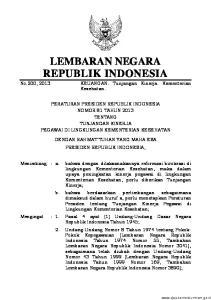 2013, No Undang-Undang Nomor 17 Tahun 2003 tentang Keuangan Negara (Lembaran Negara Republik Indonesia Tahun 2003 Nomor 47, Tambahan Lembaran