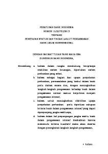 2013 TENTANG PENETAPAN STATUS DAN TINDAK LANJUT PENGAWASAN BANK UMUM KONVENSIONAL