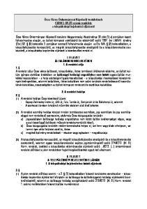 2013. (VI.27) számú rendelete a településképi bejelentési eljárásról