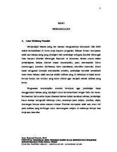 2014 EFEKTIVITAS PENGGUNAAN MEDIA PERMAINAN DOMINO DALAM MENINGKATKAN KEMAMPUAN MENGONJUGASIKAN VERBA BAHASA JERMAN